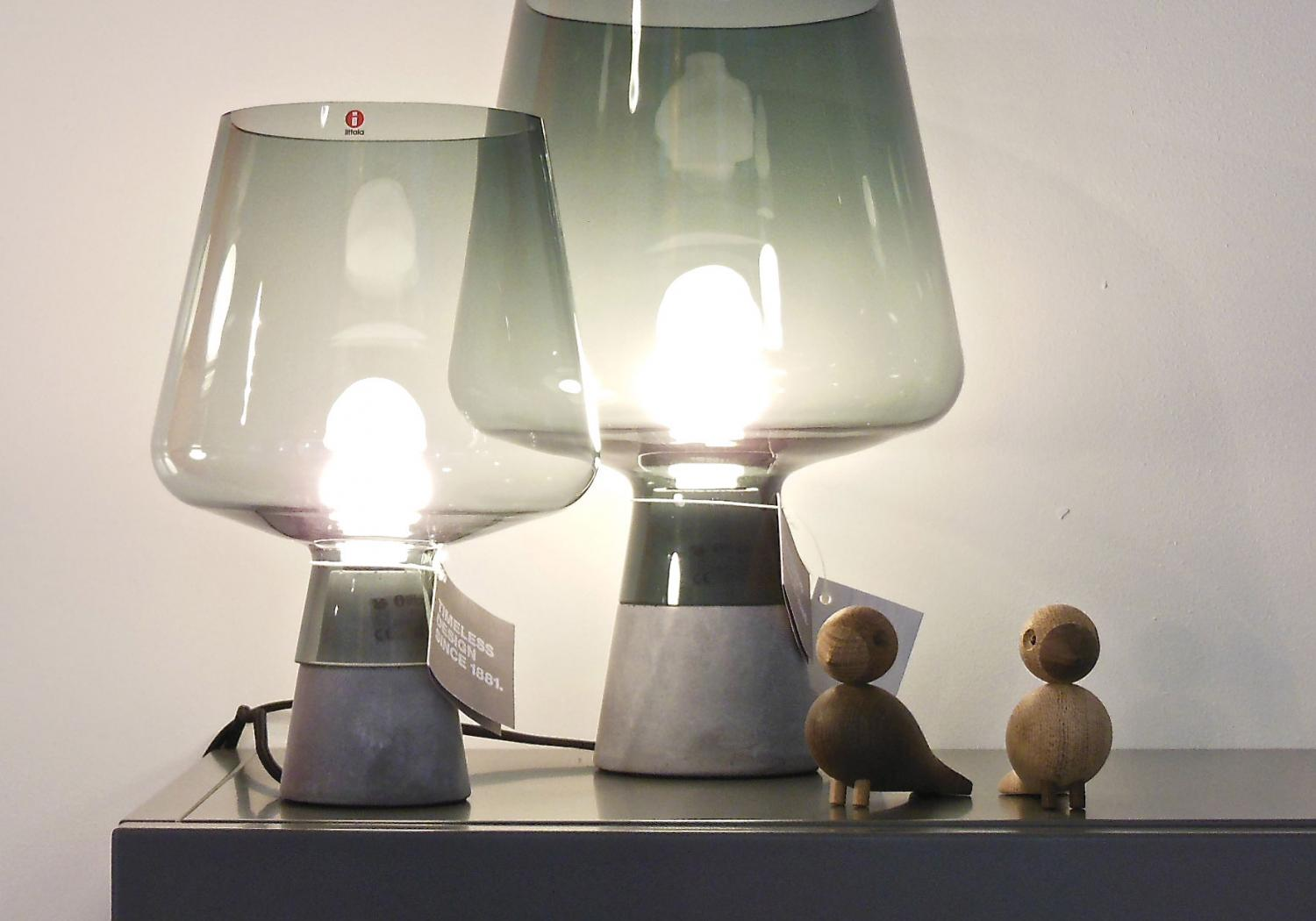 Iittala / Kay Bojesen - Leimu table lamp by Magnus Pettersen and Lovebirds by Kay Bojesen