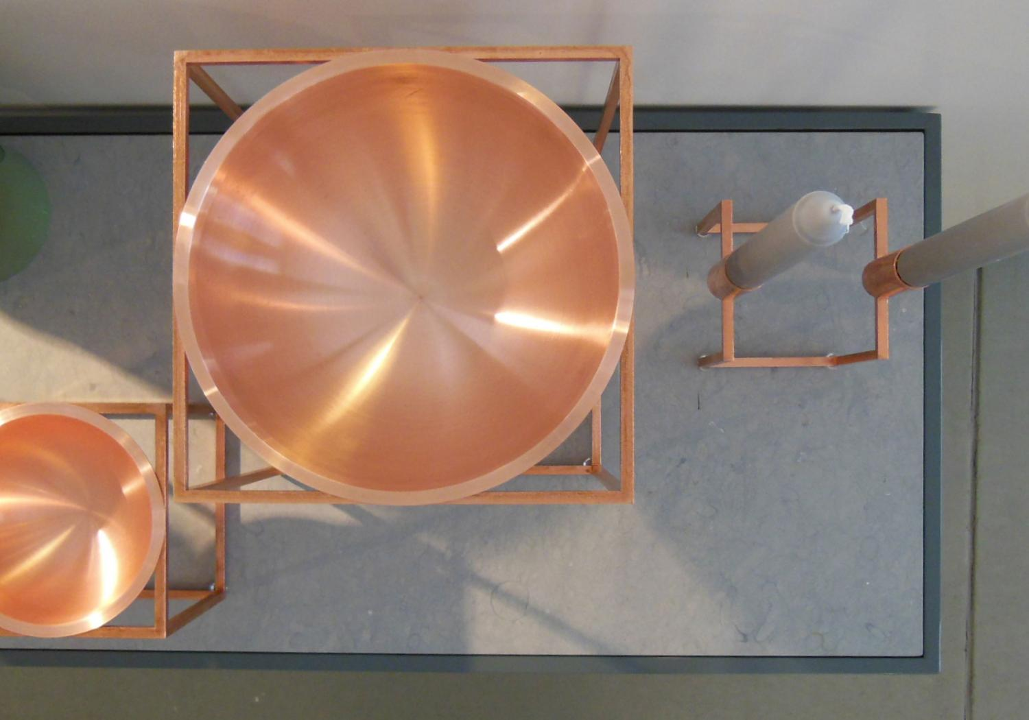 Kubus in copper by Mogens Lassen from By Lassen