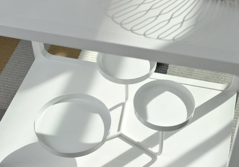 Swedese Asplund Tea Time tea trolley by Claesson Koivisto Rune Cookie etagere by Stina